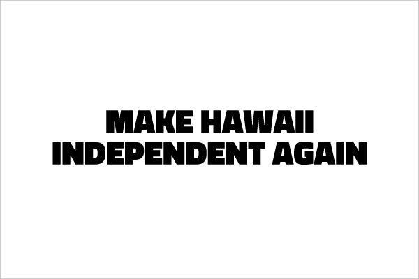 ハワイ独立運動テッカー