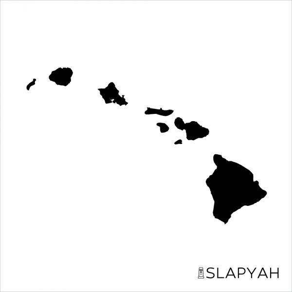 正確なハワイ諸島ステッカー