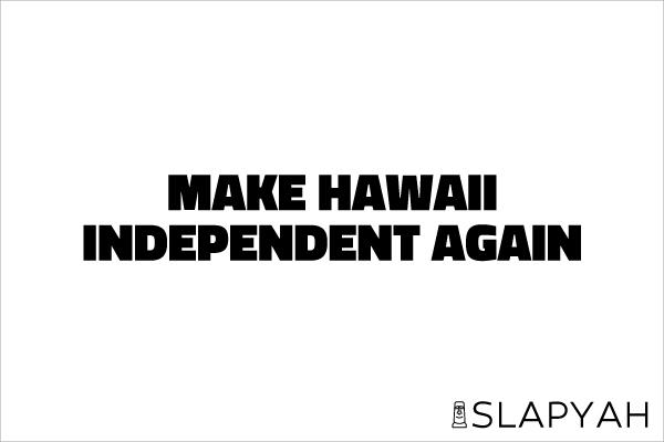 ハワイ独立運動ステッカー
