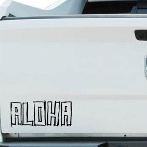 ハワイアンステッカーを車に