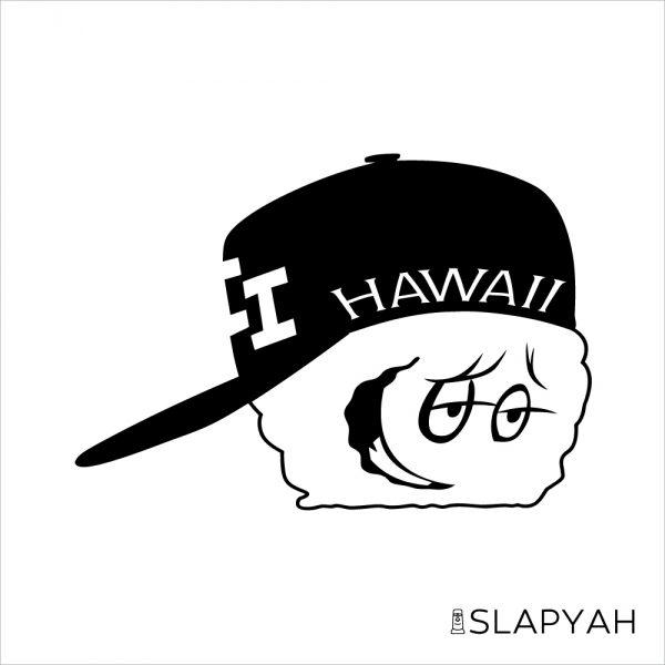 ハワイアンキッズステッカー黒