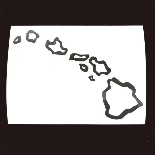 おおざっぱなハワイ諸島ステッカーの通販