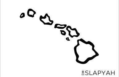 おおざっぱなハワイ諸島ステッカー