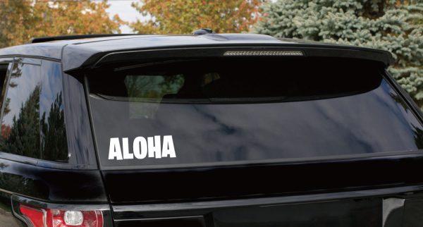 アロハステッカーの車