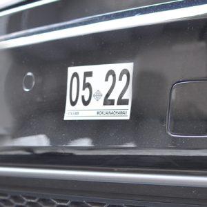 ハワイ車検ステッカー