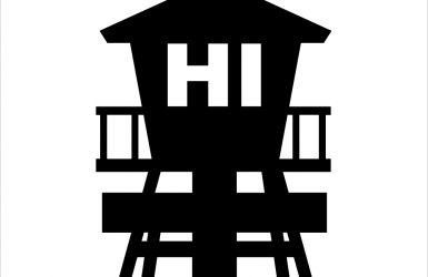 ハワイアンライフガードタワーステッカー